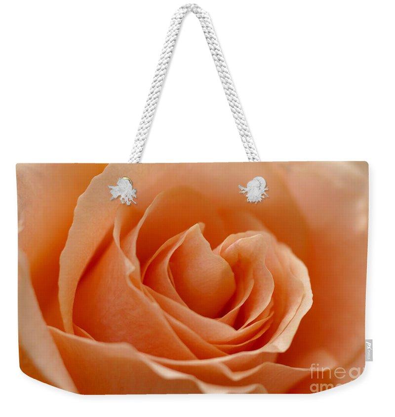 Peach Weekender Tote Bag featuring the photograph Peach by Carol Lynch