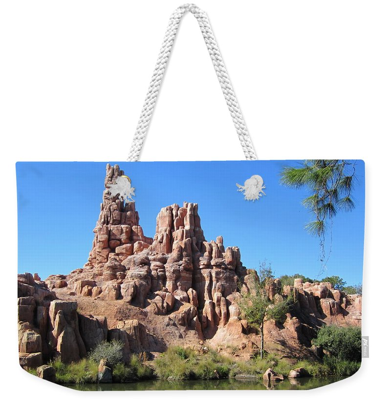 Pine Weekender Tote Bag featuring the photograph Peak And Valley by Eric Liller