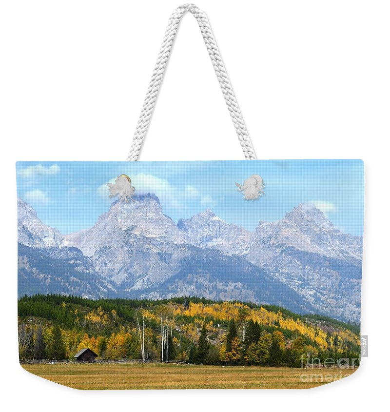 Tetons Weekender Tote Bag featuring the photograph Peak Cloud by Deanna Cagle