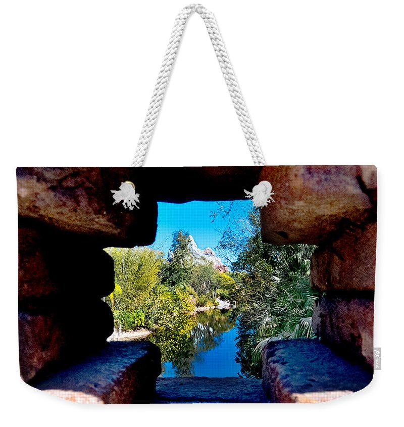 Everest Weekender Tote Bag featuring the photograph Peakin In On Everest by Greg Fortier