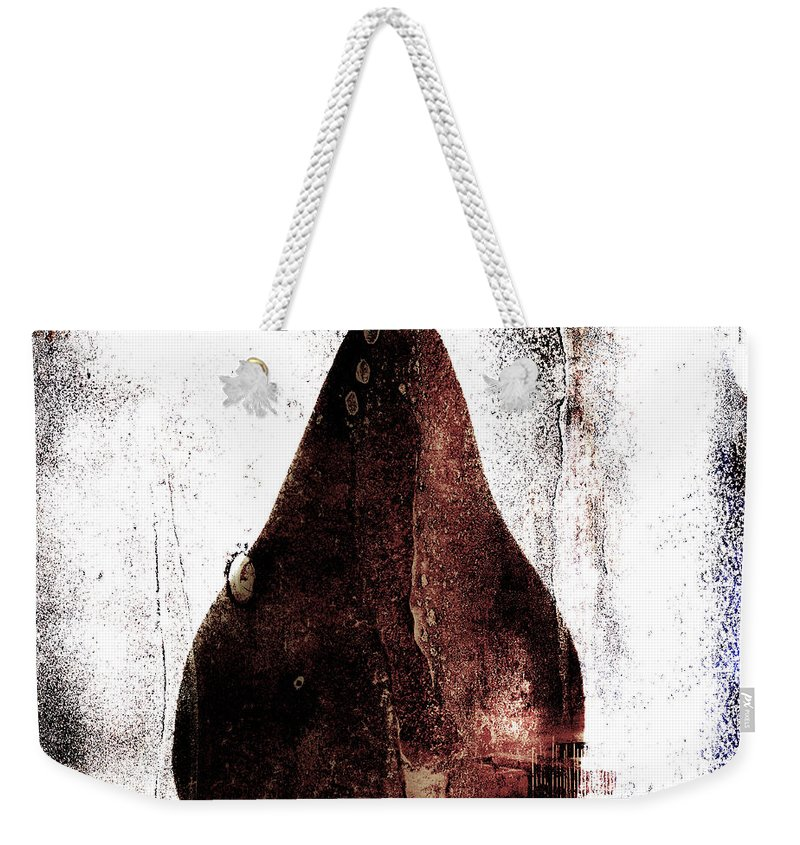 Pear Weekender Tote Bag featuring the photograph Pear In Window by Carol Leigh