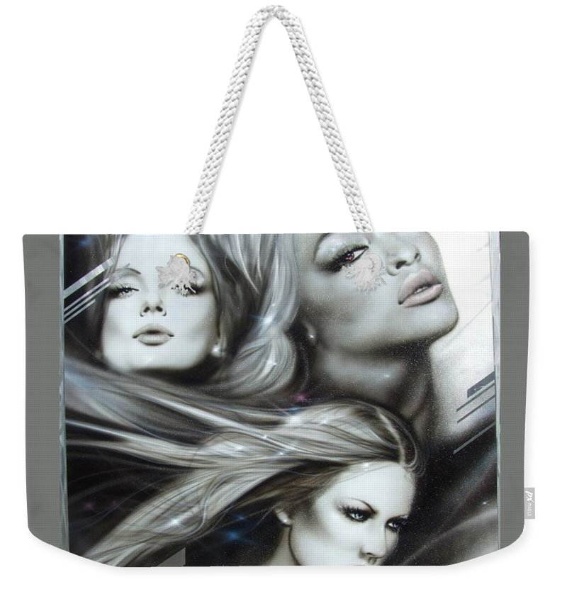 Portrait Weekender Tote Bag featuring the painting Pearl Passions by Christian Chapman Art