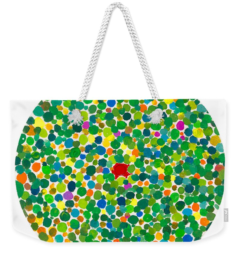 Peace Weekender Tote Bag featuring the painting Peas On Earth by Bjorn Sjogren