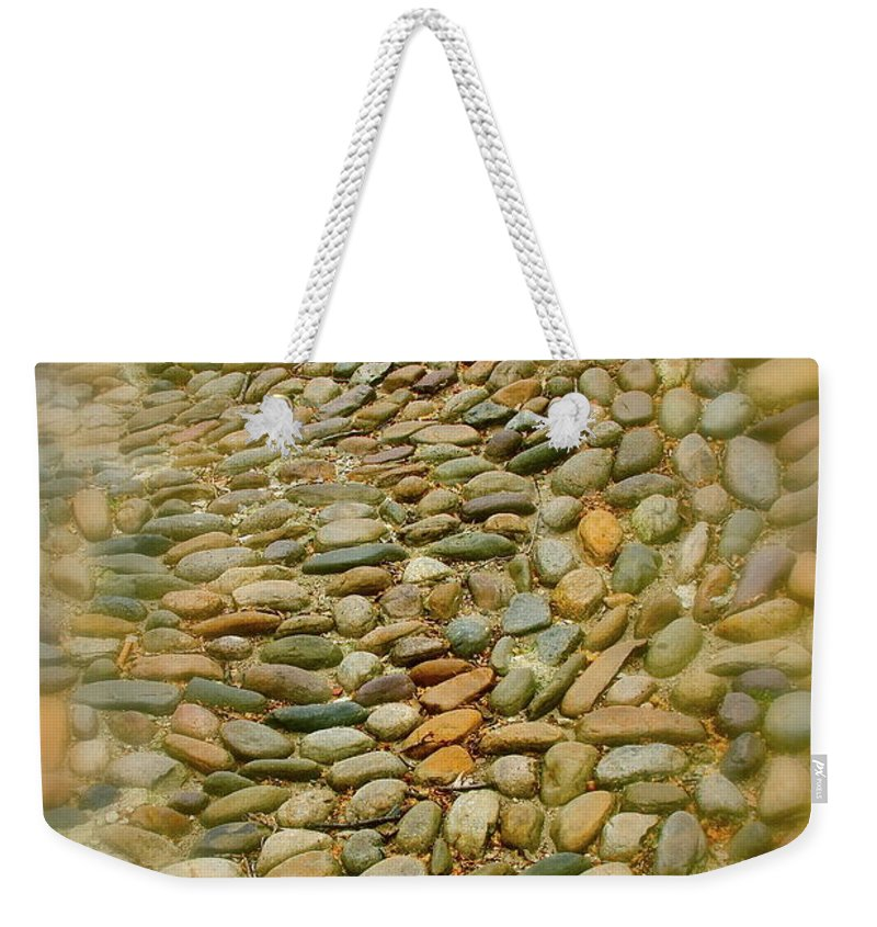 Stones Weekender Tote Bag featuring the photograph Pebbles by Rick Monyahan