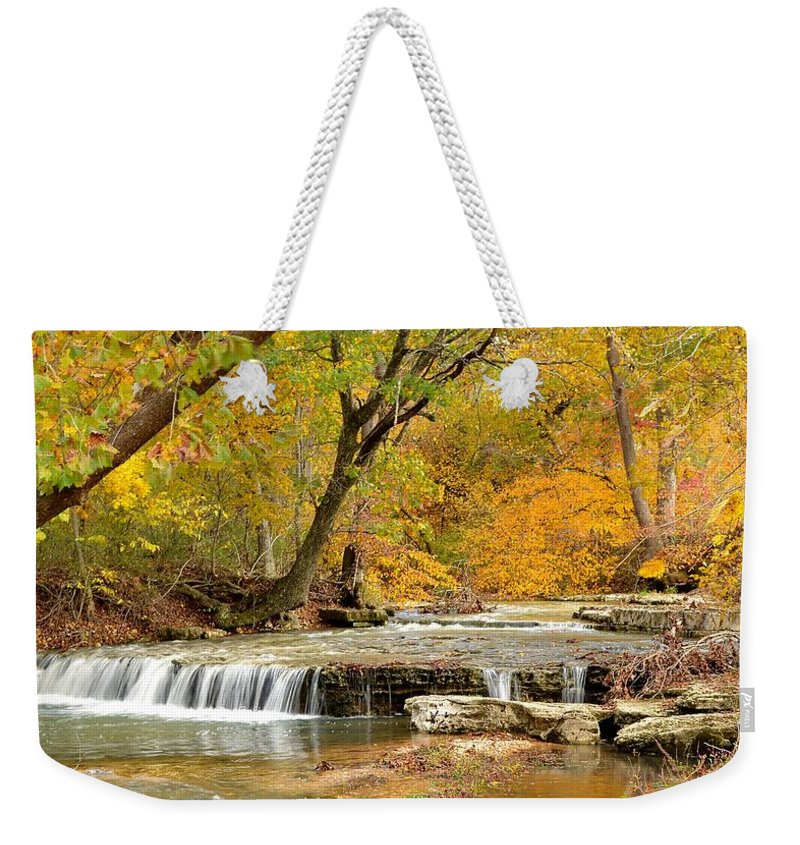 Waterfall Weekender Tote Bag featuring the photograph Pedelo Falls by Deena Stoddard