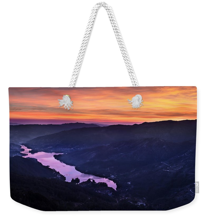 Mountain Weekender Tote Bag featuring the photograph Pedra Bela by Edgar Laureano