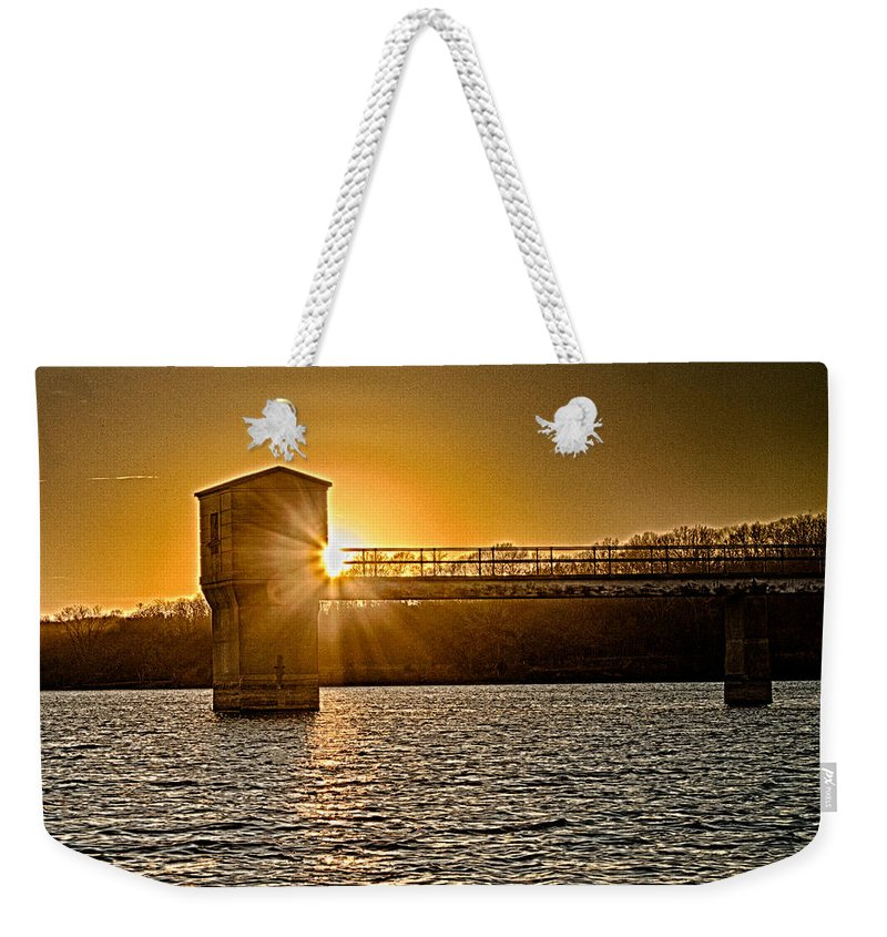 Lake Weekender Tote Bag featuring the photograph Peek A Boo by Ken Kobe