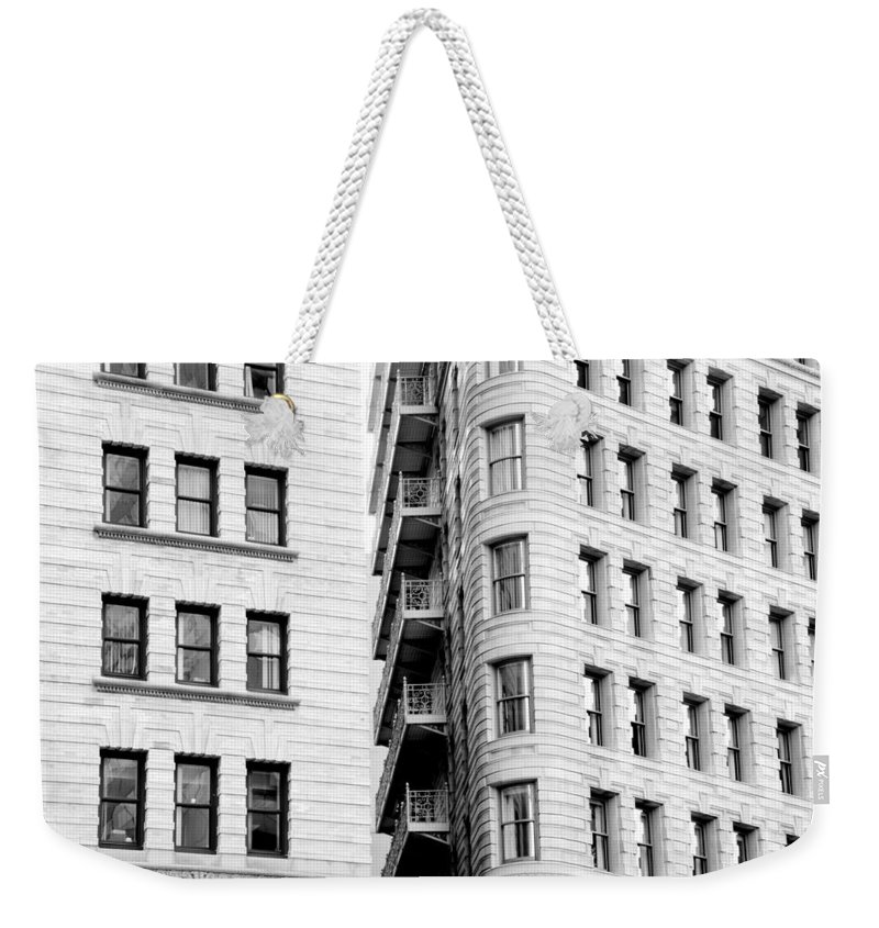 Boston Weekender Tote Bag featuring the photograph Peeking In Or Looking Out by Greg Fortier