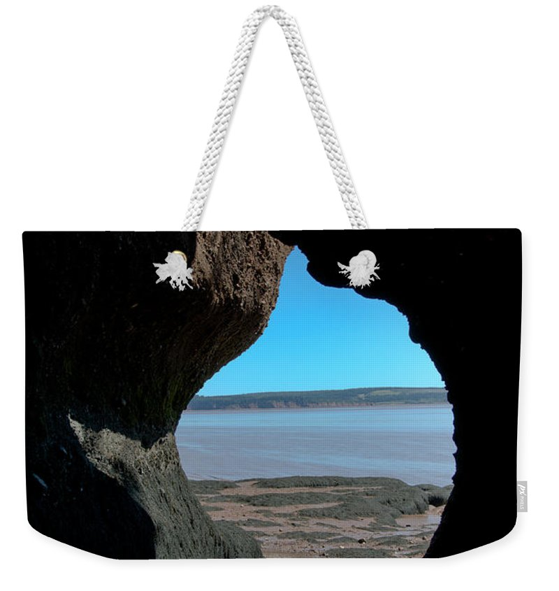 Weekender Tote Bag featuring the photograph Peeking Through by Cheryl Baxter