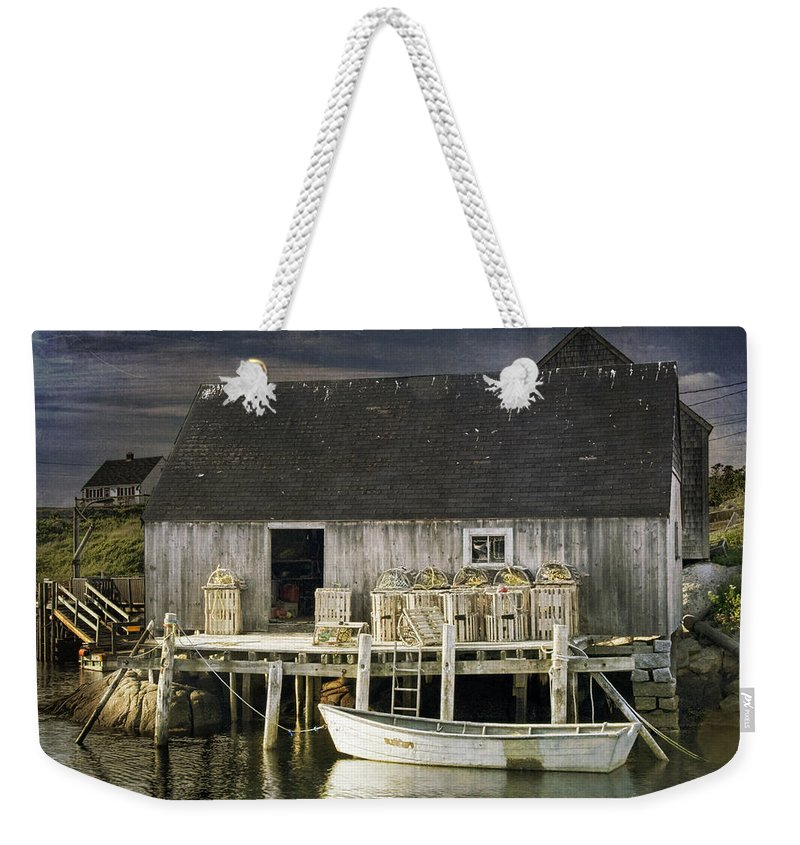 Peggy�s Cove Weekender Tote Bag featuring the photograph Peggys Cove Fishing Village by Randall Nyhof
