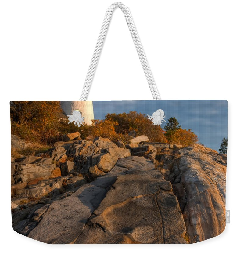 Clarence Holmes Weekender Tote Bag featuring the photograph Pemaquid Point Light I by Clarence Holmes