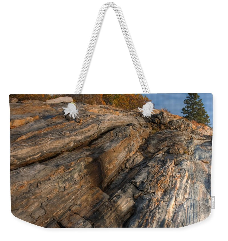 Clarence Holmes Weekender Tote Bag featuring the photograph Pemaquid Point Light II by Clarence Holmes