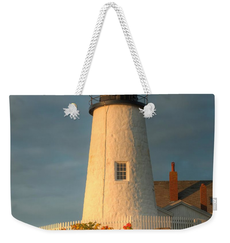 Clarence Holmes Weekender Tote Bag featuring the photograph Pemaquid Point Light IIi by Clarence Holmes