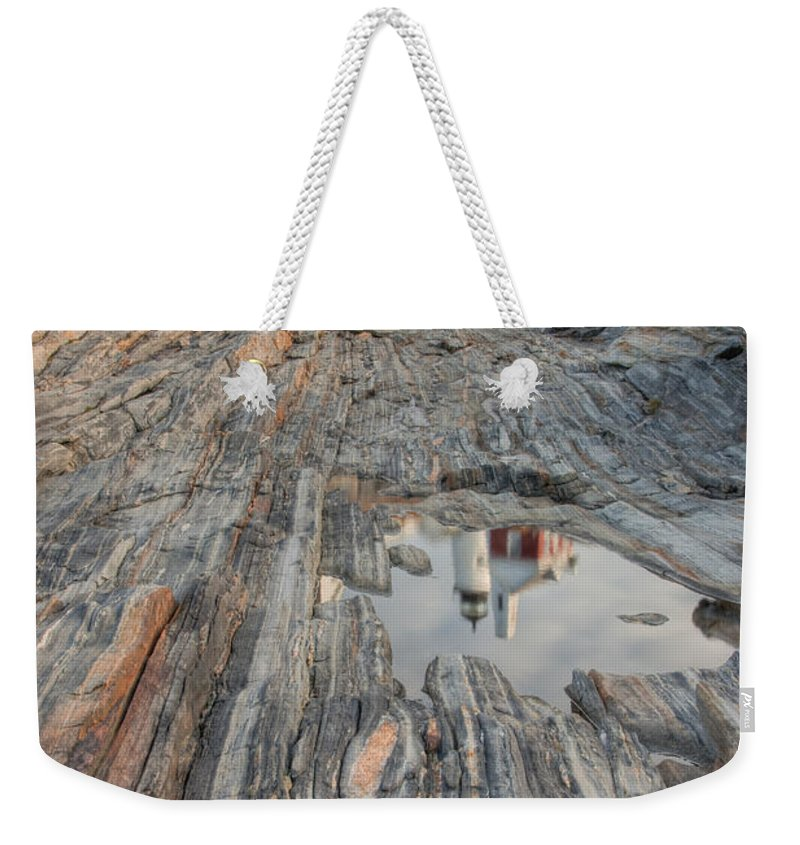 Clarence Holmes Weekender Tote Bag featuring the photograph Pemaquid Point Light Iv by Clarence Holmes