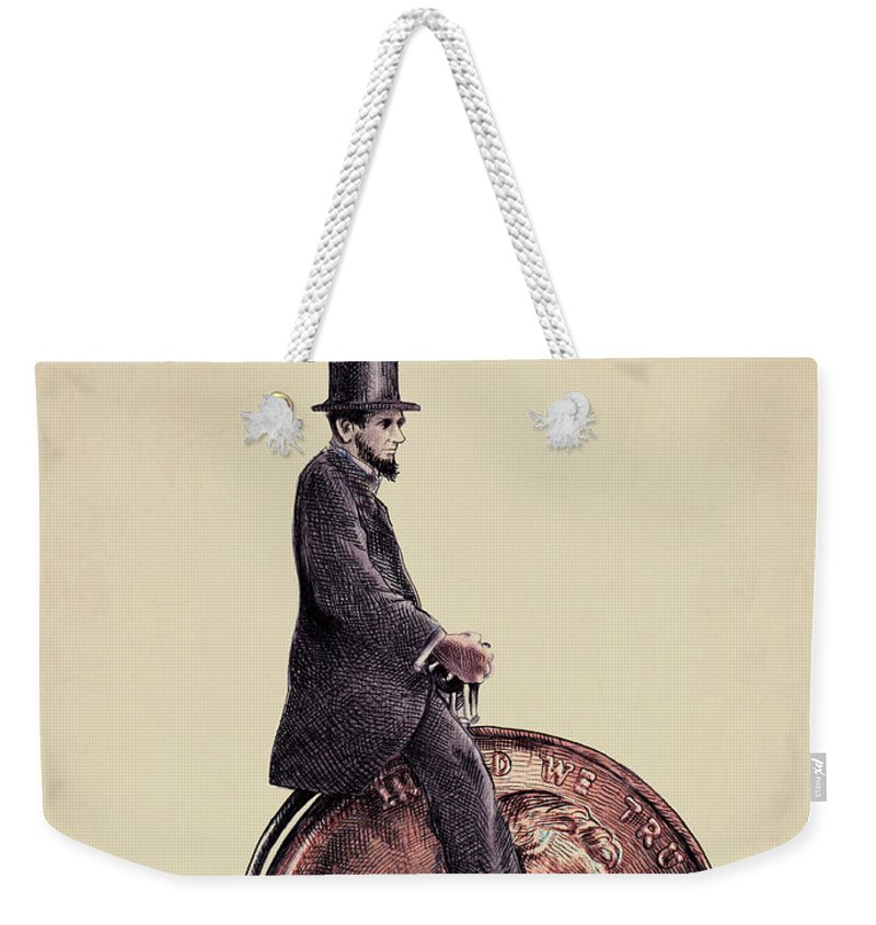 Abraham Lincoln Weekender Tote Bags