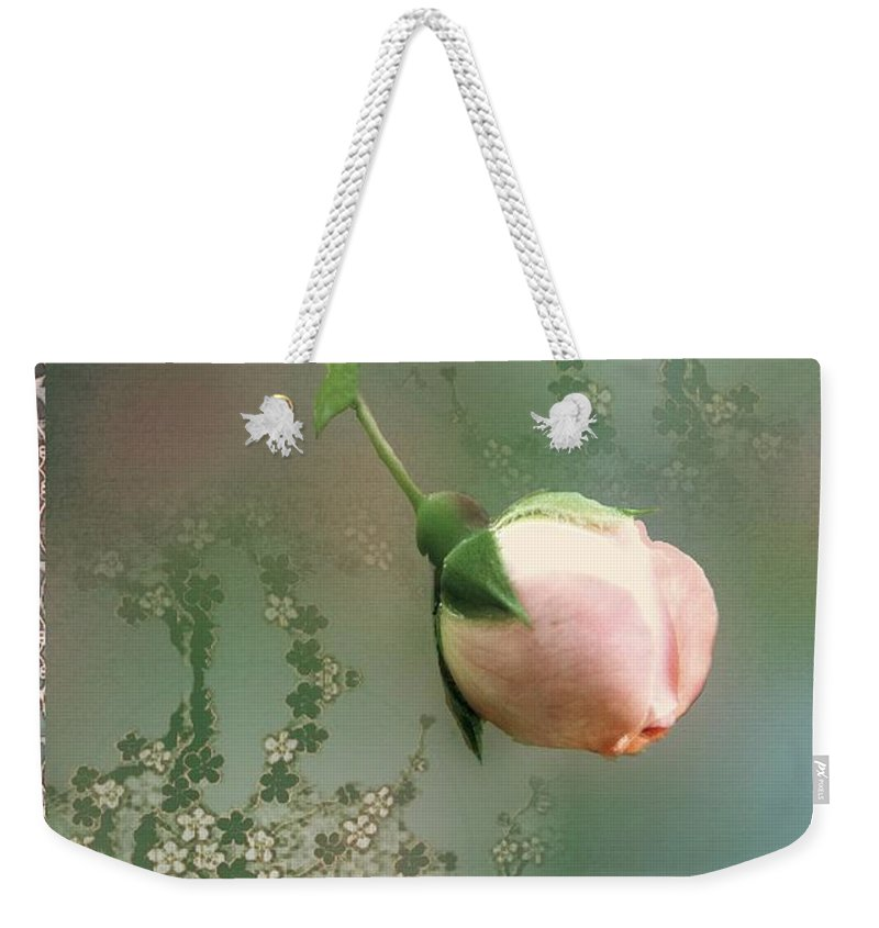 Rose Weekender Tote Bag featuring the painting Penny Postcard Chinoiserie by RC DeWinter
