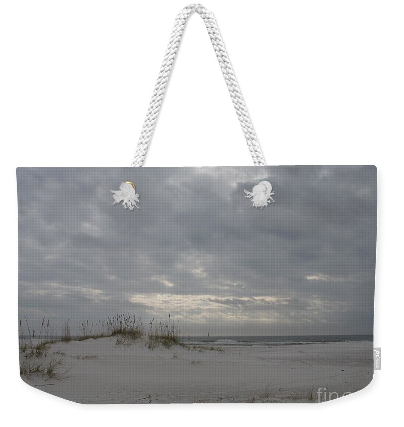 Beach Weekender Tote Bag featuring the photograph Pensacola Beach After Storm by Christiane Schulze Art And Photography