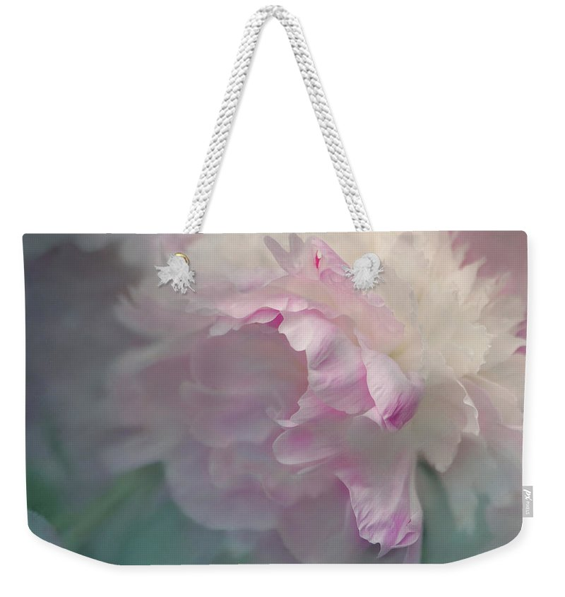 Flower Weekender Tote Bag featuring the photograph Peony by Jeff Burgess