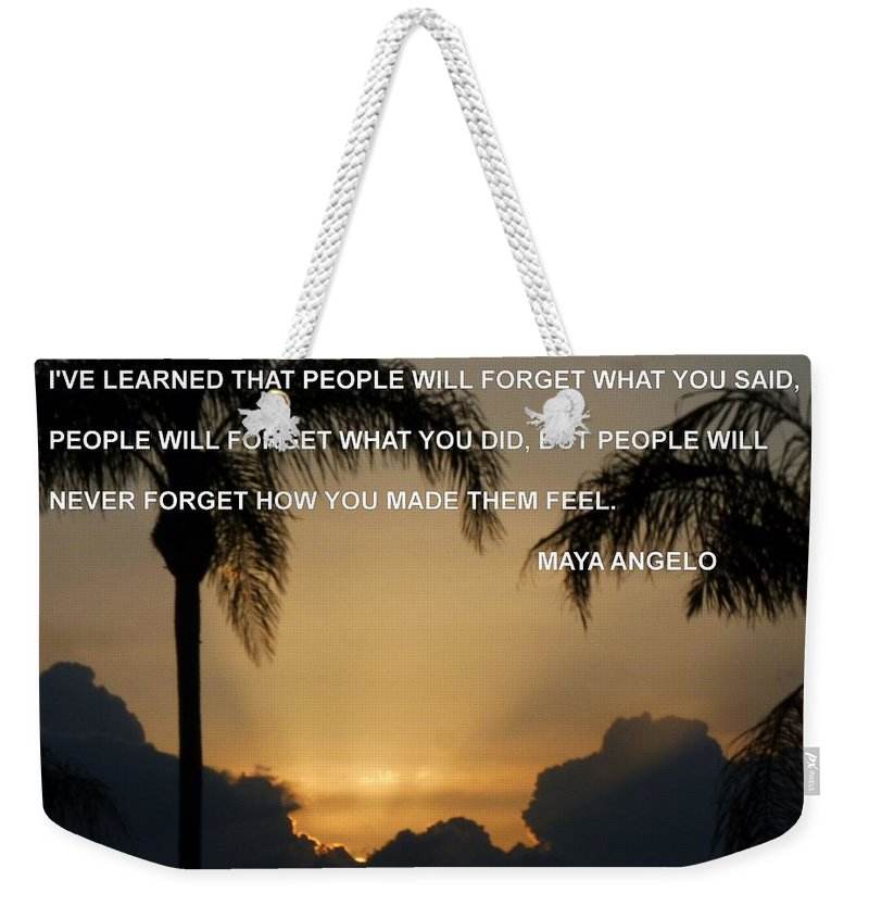 Weekender Tote Bag featuring the photograph People Feel by Anthony Walker Sr