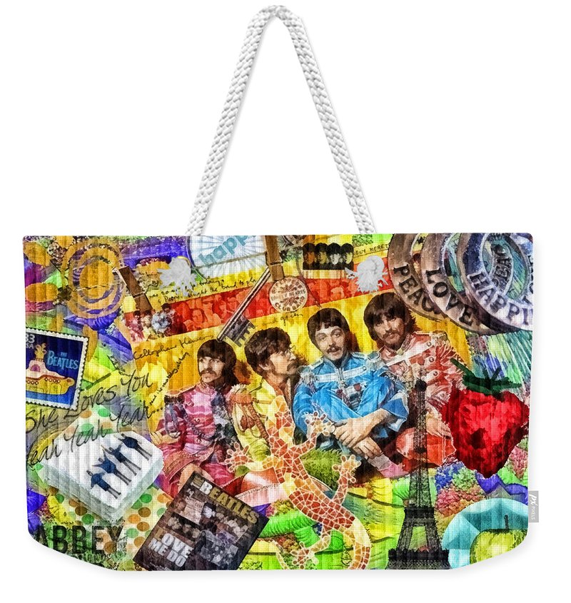 Pepperland Weekender Tote Bag featuring the painting Pepperland by Mo T
