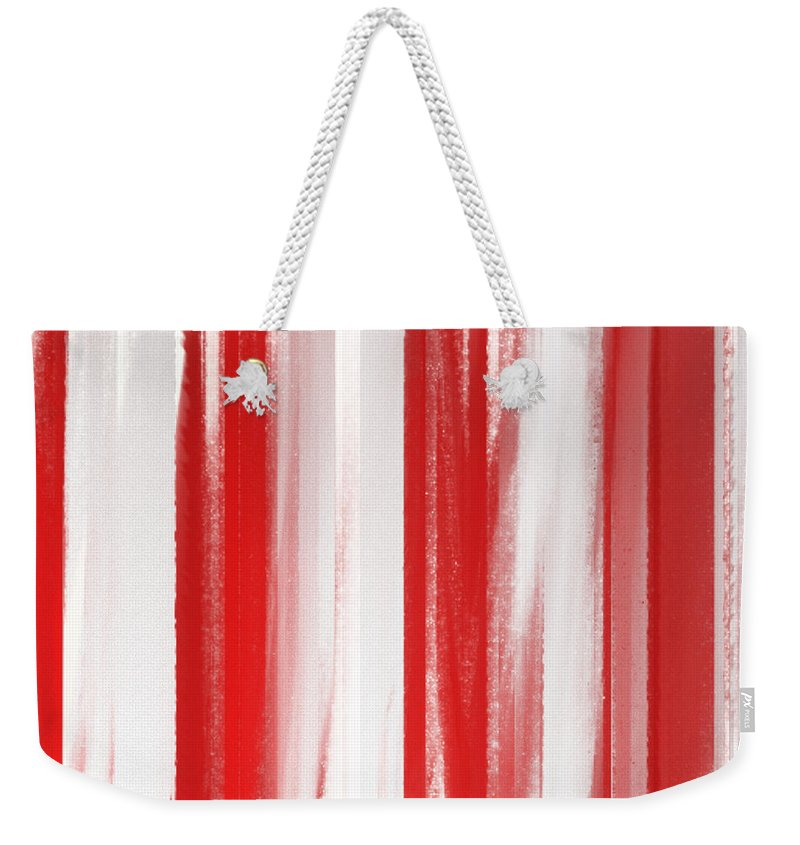 Andee Design Abstract Weekender Tote Bag featuring the digital art Peppermint Stick Abstract by Andee Design