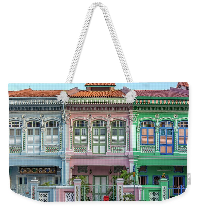 Tranquility Weekender Tote Bag featuring the photograph Peranakan Architecture by Edward Tian