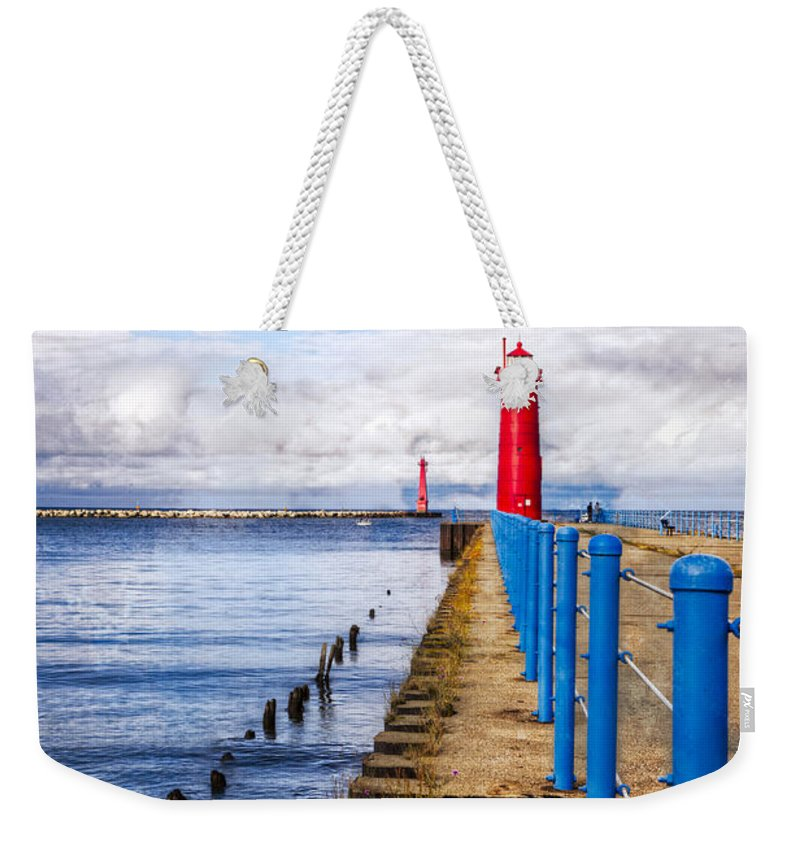Boats Weekender Tote Bag featuring the photograph Pere Marquette by Debra and Dave Vanderlaan