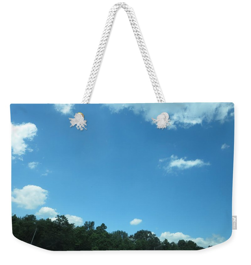 Skyway Weekender Tote Bag featuring the photograph Perfect Angle Photos From Moving Car Windows Closed Navinjoshi Rights Managed Images Graphic Design by Navin Joshi