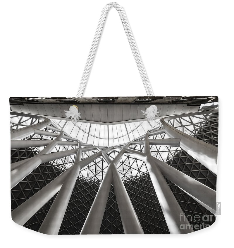 Abstract Weekender Tote Bag featuring the photograph Perfect Lines by Svetlana Sewell