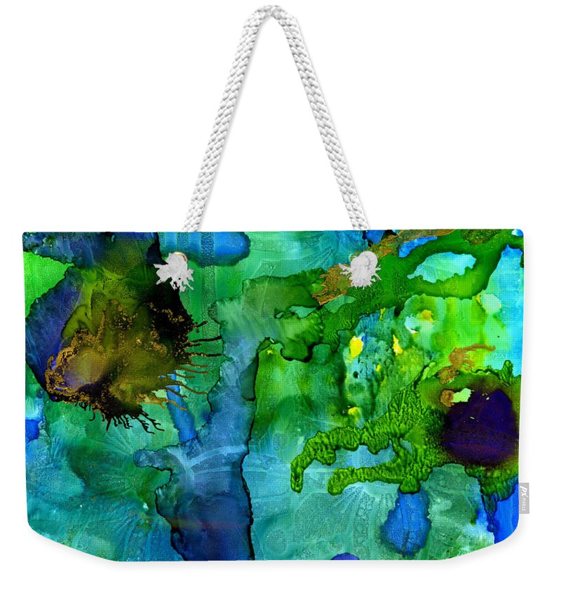 Ink Weekender Tote Bag featuring the painting Perfect Petals And Spring Showers by Angela L Walker