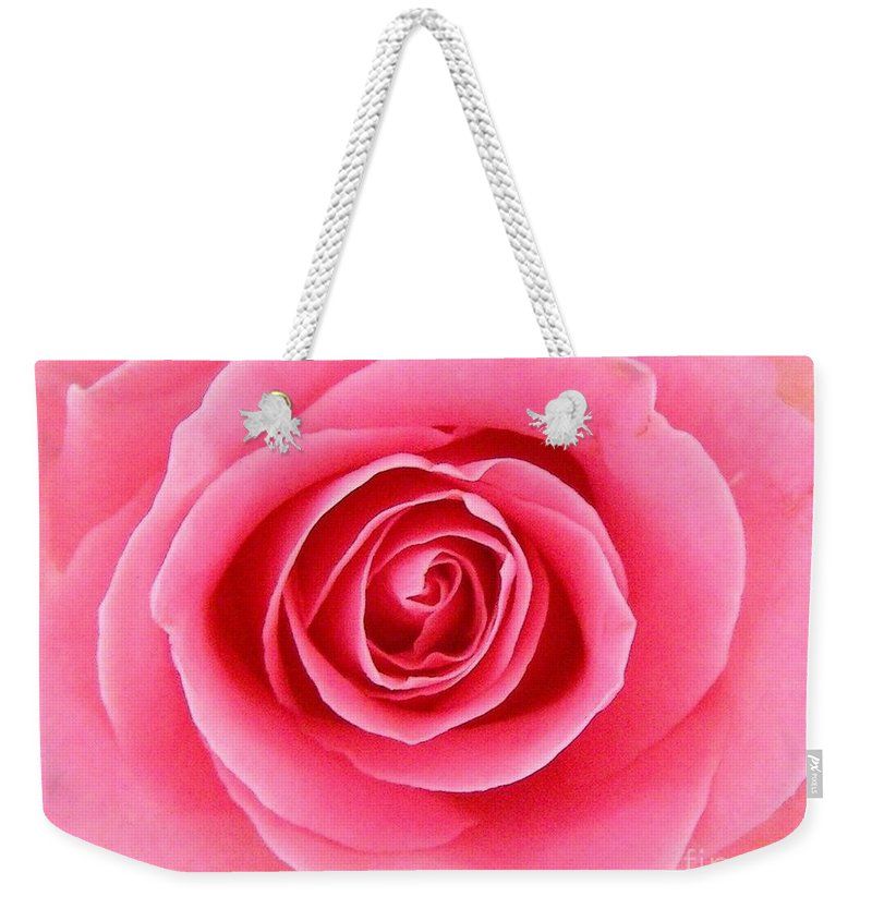 Perfect Rose Weekender Tote Bag featuring the photograph Perfect Rose by Bev Conover
