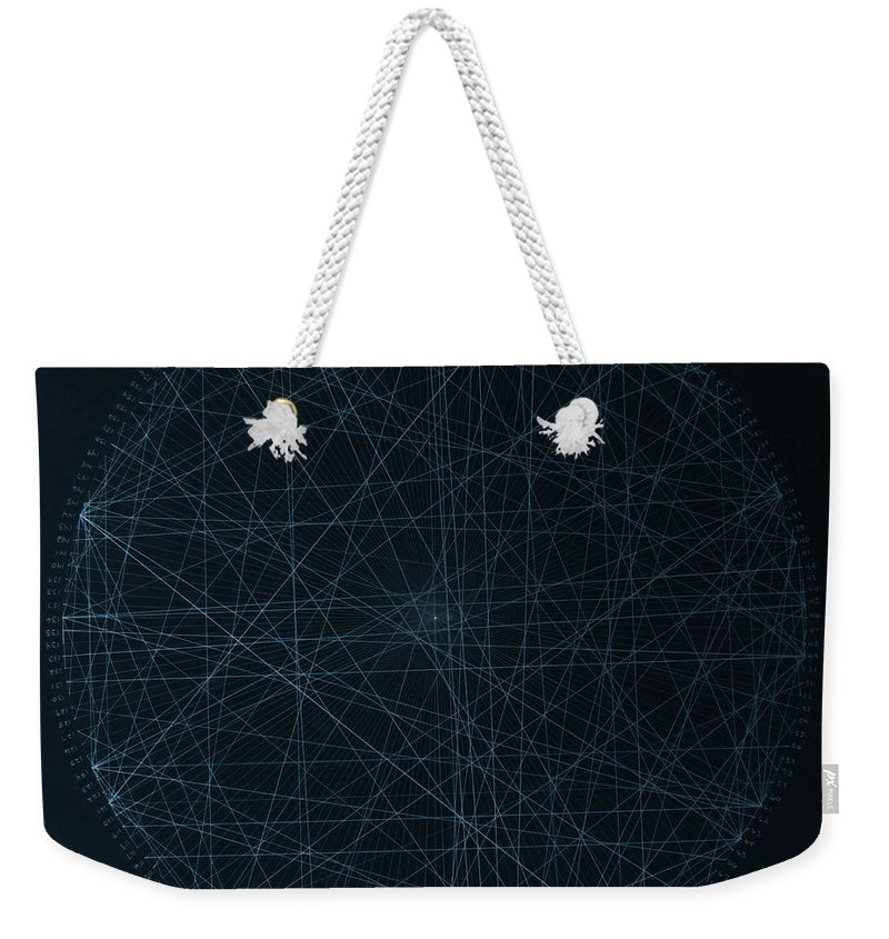 Jason Weekender Tote Bag featuring the drawing Perfect Square by Jason Padgett