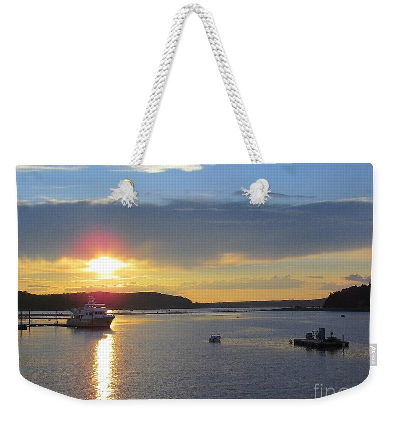 Sunset Weekender Tote Bag featuring the photograph Perfect Sunset by Elizabeth Dow