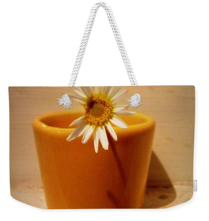 Daisy Weekender Tote Bag featuring the photograph Perfectly Imperfect by Lainie Wrightson