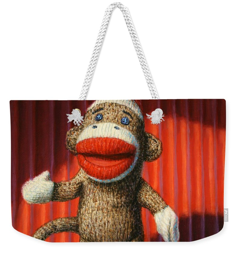 Sock Monkey Weekender Tote Bags