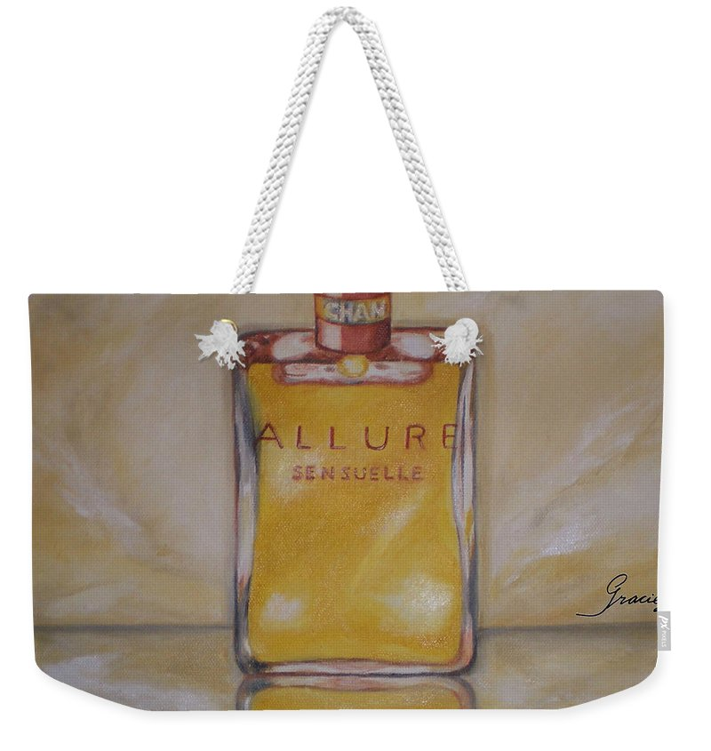 Chanel Weekender Tote Bag featuring the painting Perfume-allure by Graciela Castro