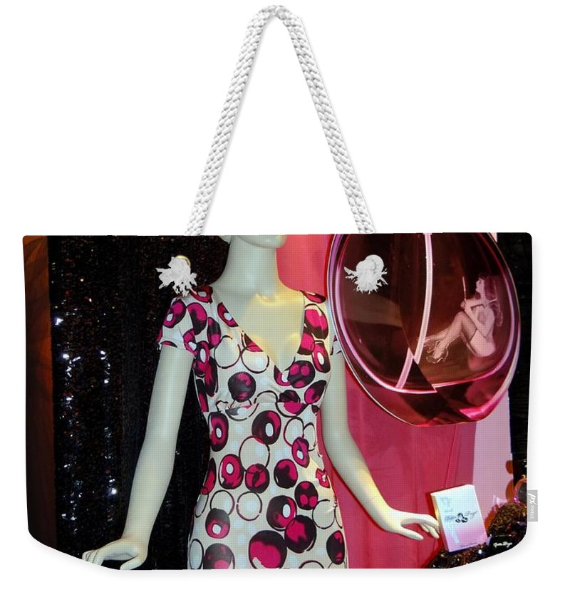 Mannequins Weekender Tote Bag featuring the photograph Perfume Girl by Ed Weidman