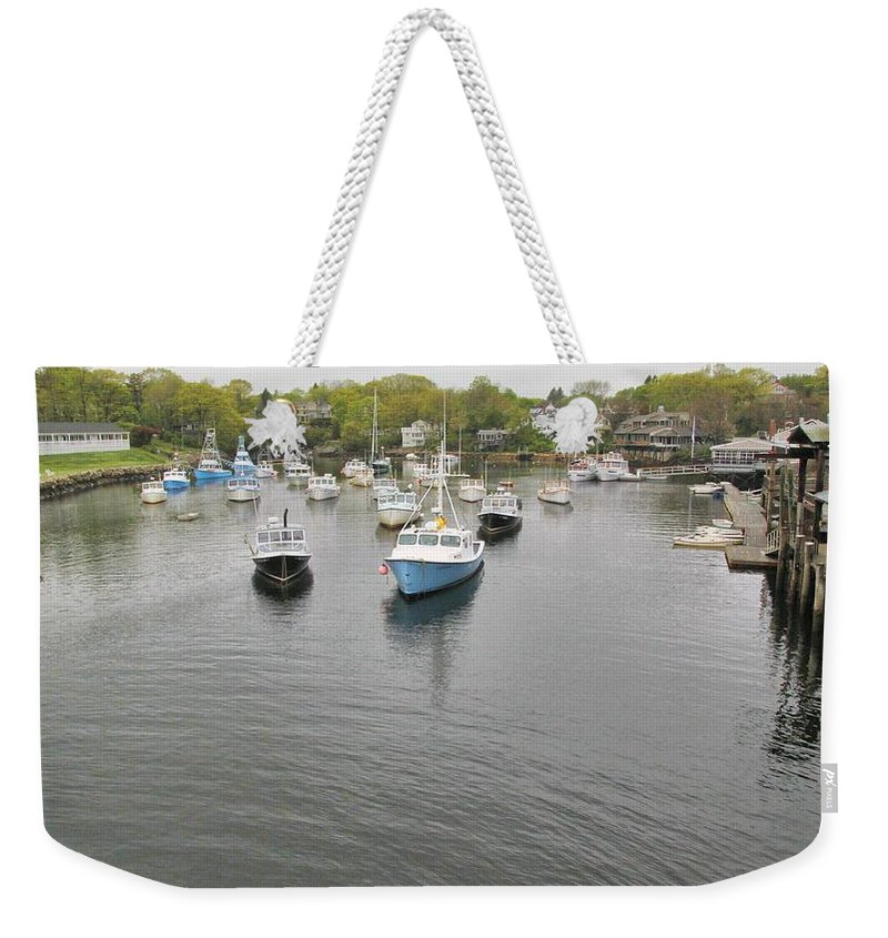 Perkins Cove Weekender Tote Bag featuring the photograph Perkins Cove by Robert McCulloch