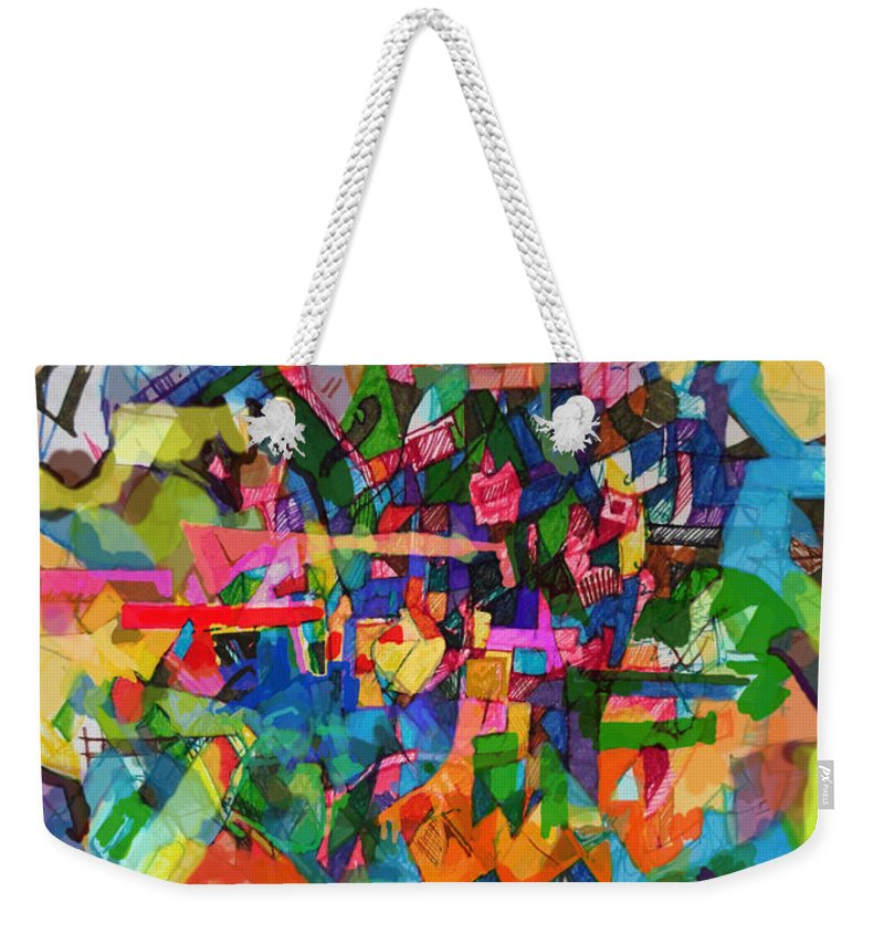 Divine Providence Weekender Tote Bag featuring the digital art Perpetual Encounter With Providence 4 by David Baruch Wolk
