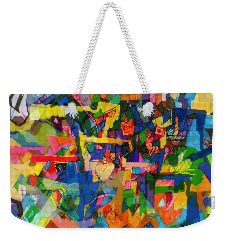 Divine Providence Weekender Tote Bag featuring the digital art Perpetual Encounter With Providence 7 by David Baruch Wolk
