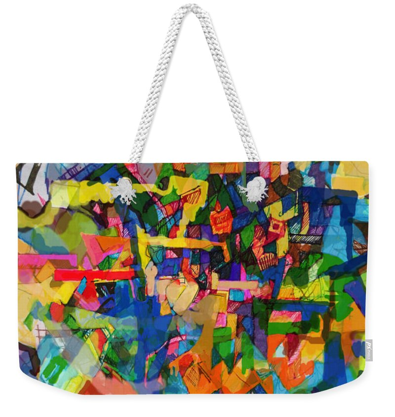 Divine Providence Weekender Tote Bag featuring the digital art Perpetual Encounter With Providence 7a by David Baruch Wolk