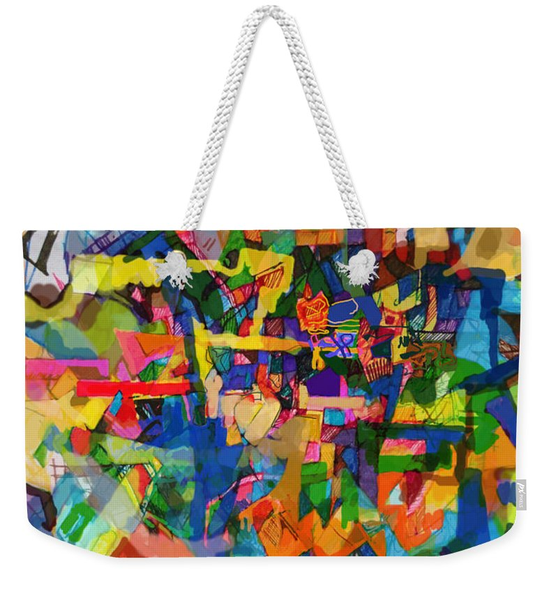 Divine Providence Weekender Tote Bag featuring the digital art Perpetual Encounter With Providence 7b by David Baruch Wolk