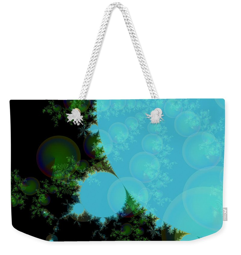 Fractal Art Weekender Tote Bag featuring the digital art Perspective In The Forest by Elizabeth McTaggart