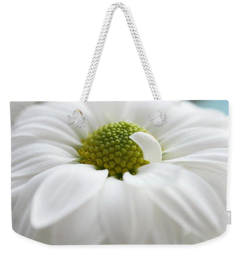 Chrysanthemum Weekender Tote Bag featuring the photograph Petal Pillow by Connie Handscomb