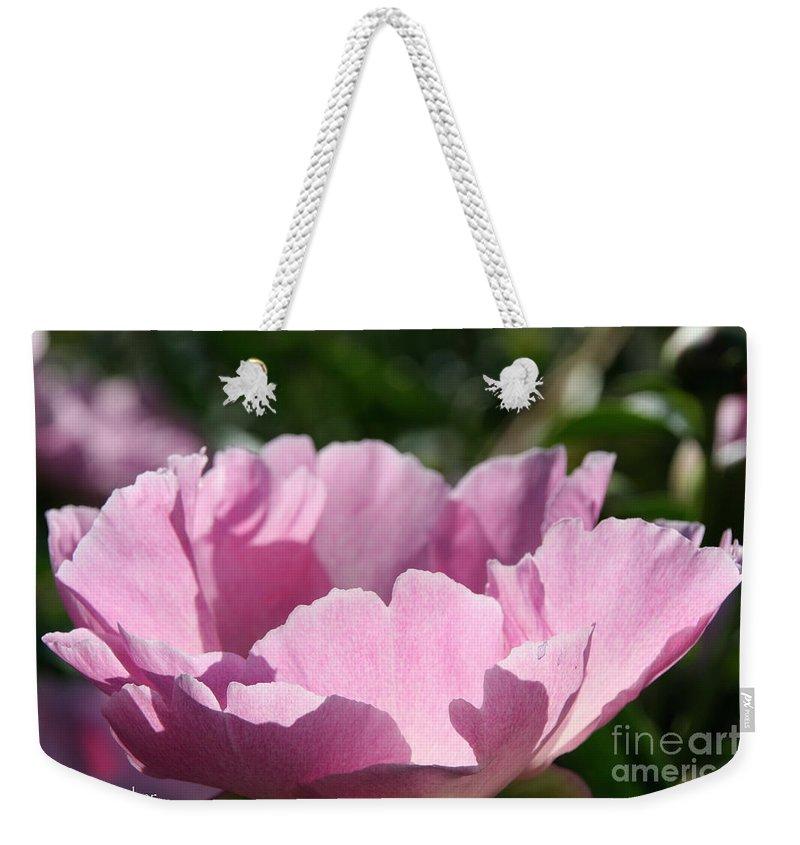 Flower Weekender Tote Bag featuring the photograph Petal Shadows by Susan Herber