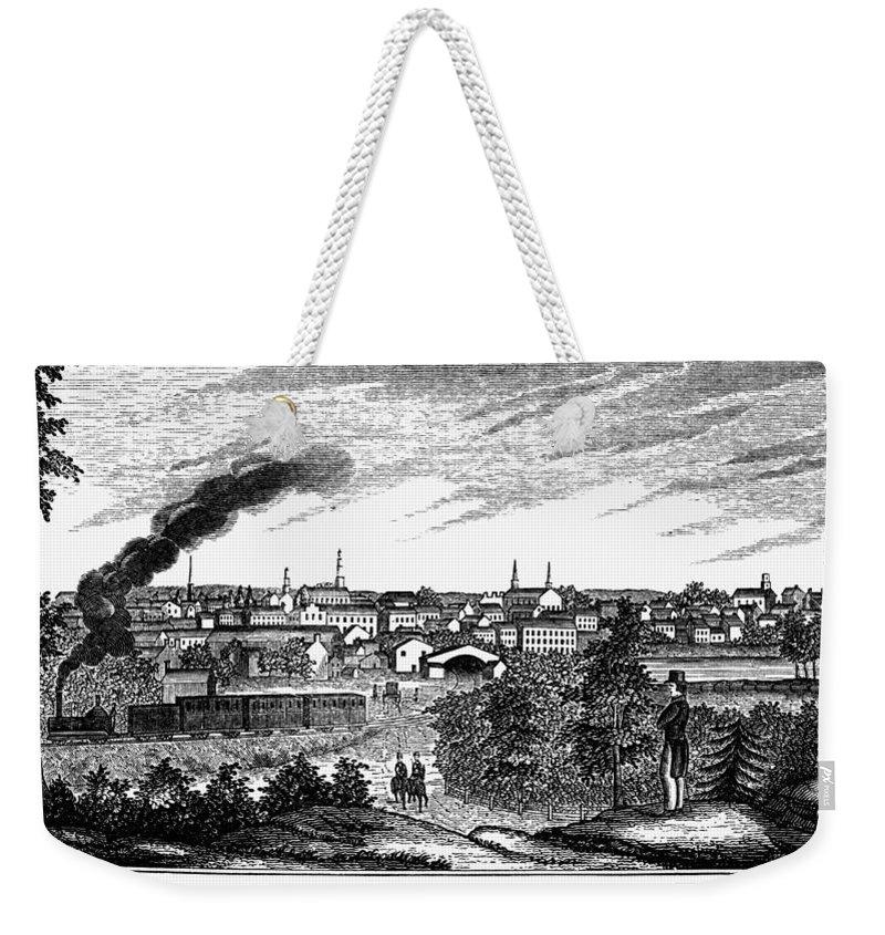 1856 Weekender Tote Bag featuring the painting Petersburg, Virginia, 1856 by Granger
