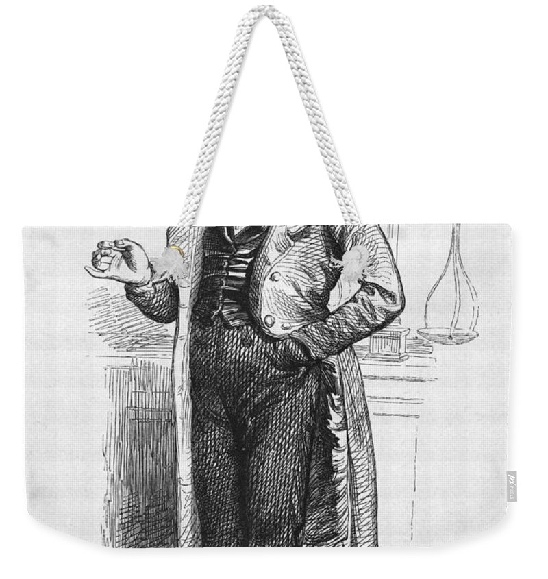 19th Century Weekender Tote Bag featuring the photograph Pharmacist, 19th Century by Granger