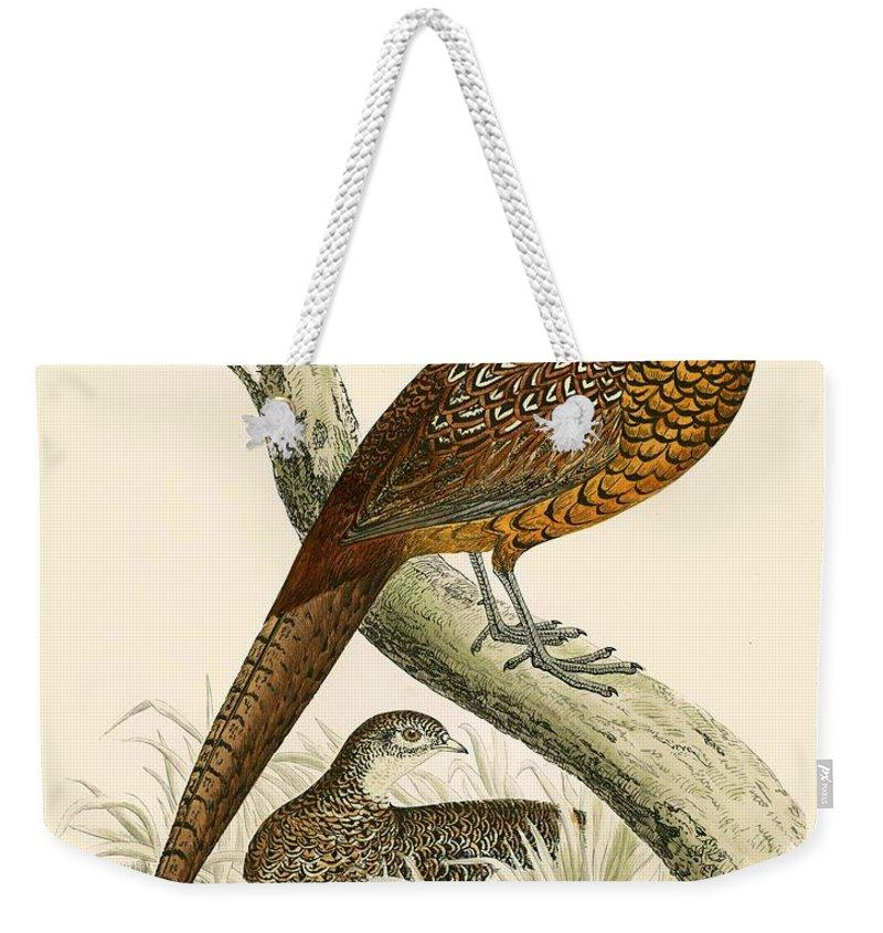 Pheasant Weekender Tote Bags
