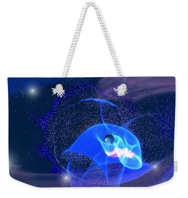 Space Weekender Tote Bag featuring the digital art Phenomenon II by Steve Karol