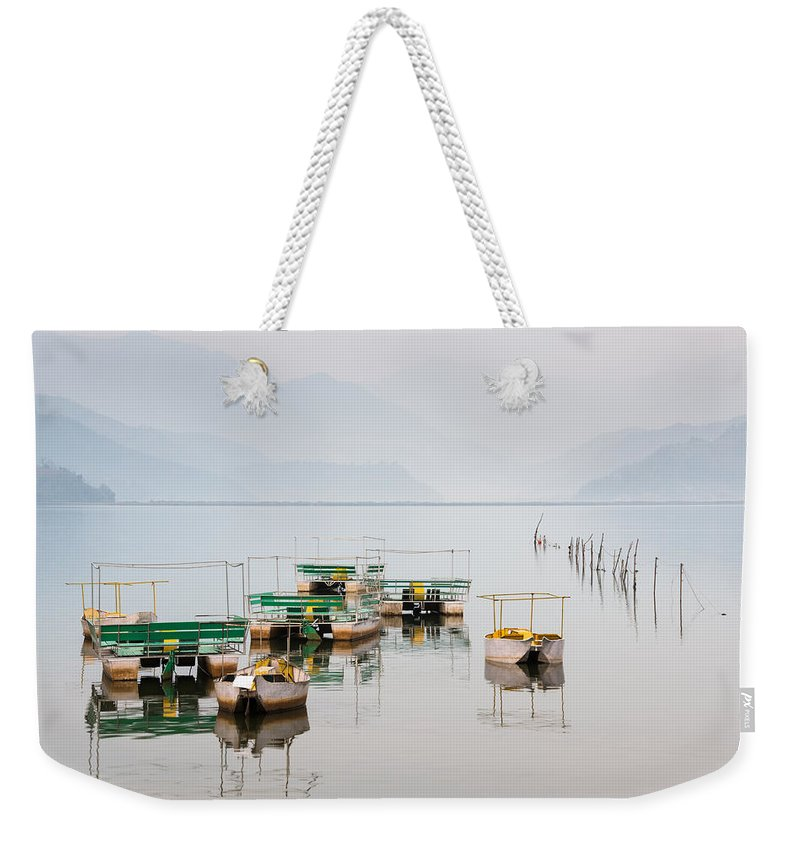 Pokhara Weekender Tote Bag featuring the photograph Phewa Lake In Pokhara Nepal by Dutourdumonde Photography